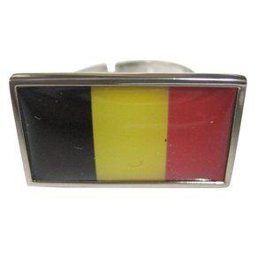 Belgium Flag Fashion Ring